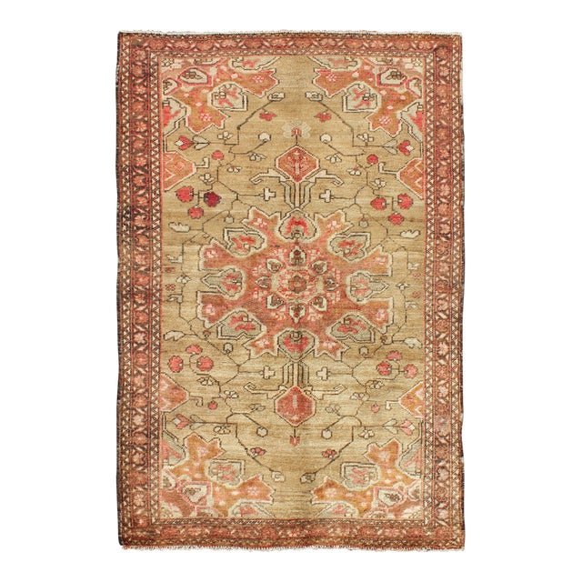 Vintage Mid-Century Persian Rug - 4′2″ × 6′4″ For Sale