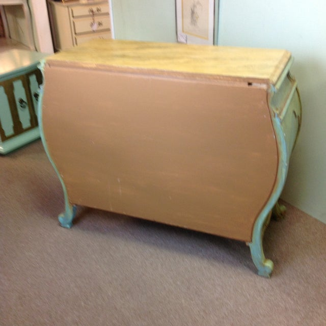 Large Light Green Painted Chest - Image 6 of 8