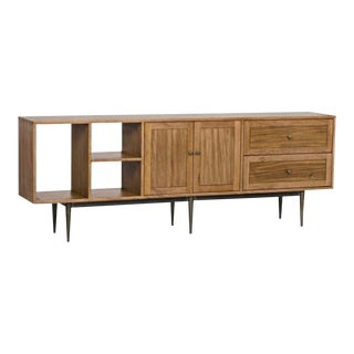 Walnut Mid Century Style Sideboard For Sale