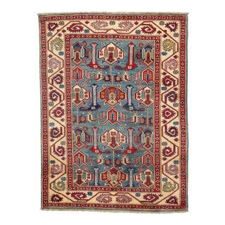 Contemporary Pak Kazak Lamb's Wool Rug - 3′6″ × 5′ For Sale
