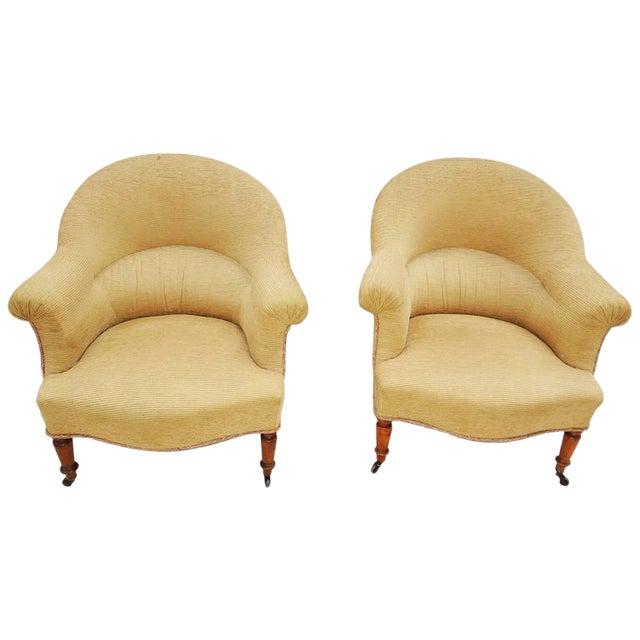 Pair of Napoleon III Armchairs For Sale