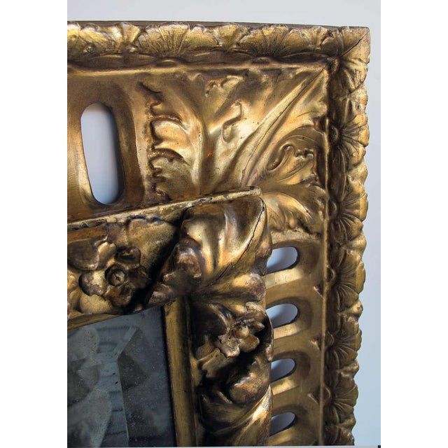 A Richly Carved Italian Baroque Style Giltwood Mirror with Reticulated Frame - Image 2 of 3