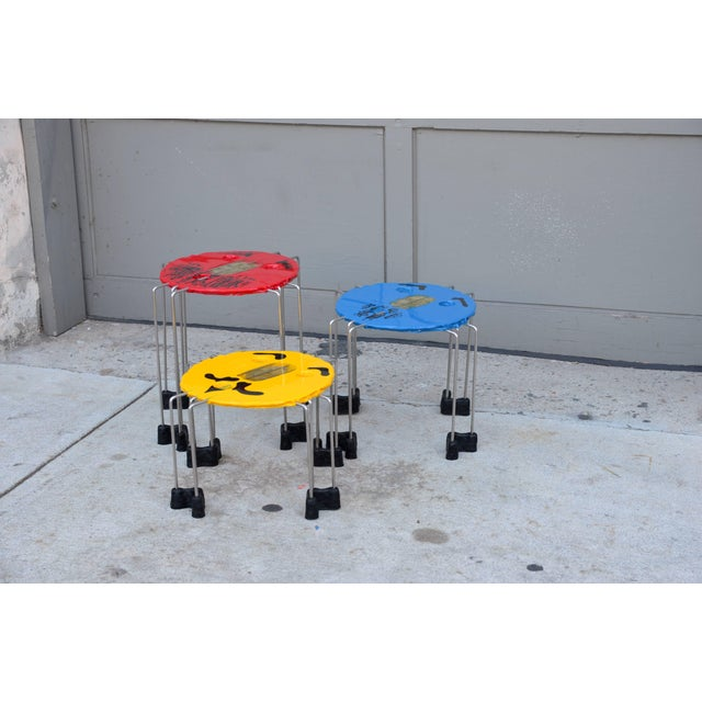Late 20th Century Set of Whimsical Colored Side Tables by Gaetano Pesce For Sale - Image 5 of 5