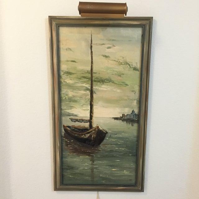 Original Oil Painting of Schooner by N. Bueti - Image 2 of 5
