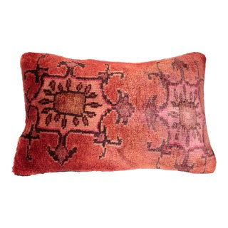 Turkish One of a Kind Handmade Carpet Pillow Cover For Sale