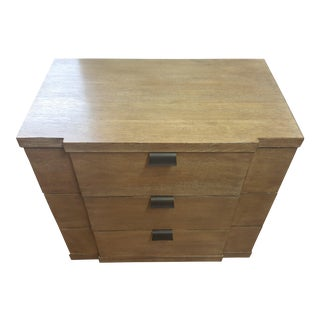 Bernhardt Ash Veneer Small Drawer Chest For Sale
