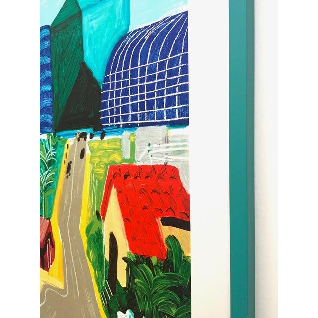"David Hockney Rare Vintage 1989 Lithograph Print Framed Collector's Pop Art Poster "" Hancock St. West Hollywood 1 "" For Sale - Image 11 of 13"