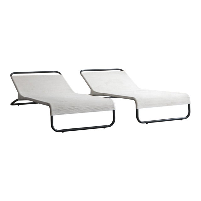 Van Keppel Green Chaise Lounges - A Pair For Sale