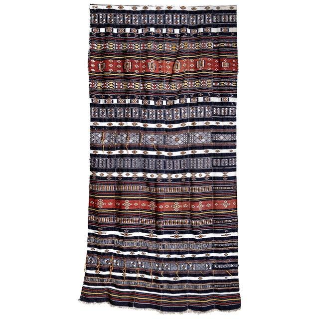 Black Arkilla Kerka Fulani Wedding Blanket For Sale - Image 8 of 8
