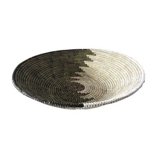 "Handmade Woven Senegalese Wolof Basket 16.5"" D 16.5"" D For Sale"