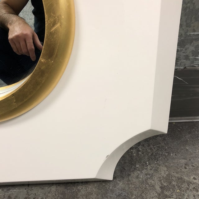 Palecek Andaz White Mirror For Sale - Image 5 of 7