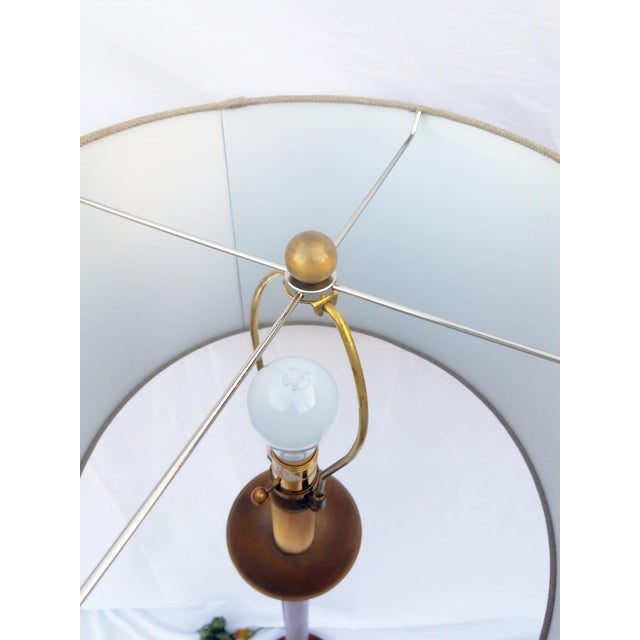 Brass Vintage Mahogany & Brass Floor Lamp For Sale - Image 7 of 8