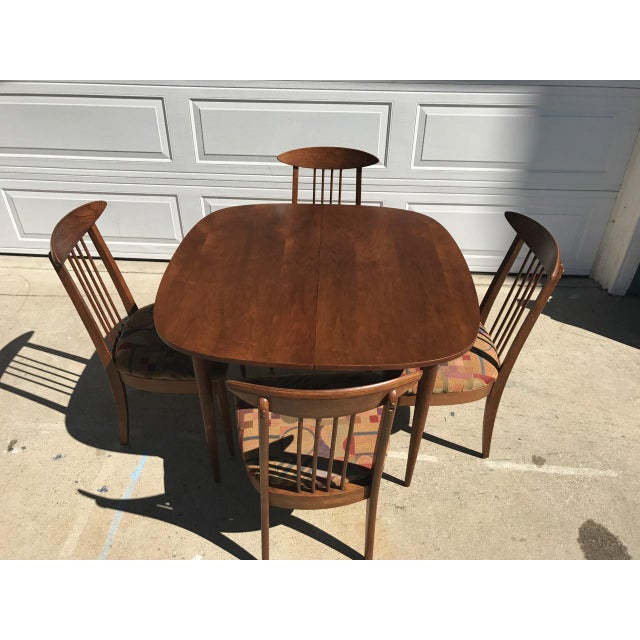 Lenoir Broyhill Mid-Century Modern Dining Set - Table & 4 Chairs - Image 4 of 10