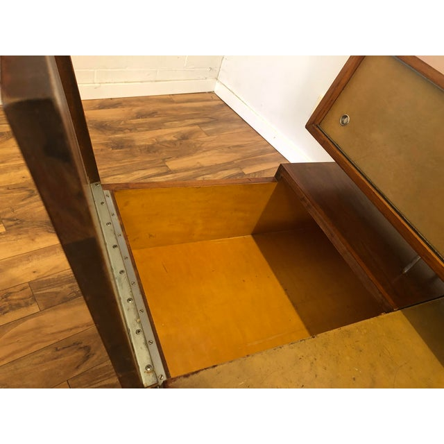 George Nelson for Herman Miller Walnut, Steel and Leather Mid Century Desk For Sale - Image 11 of 12