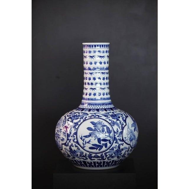 Japanese Blue and White Porcelain Vase - Image 4 of 8