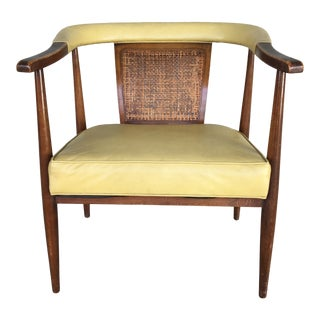 American of Martinsville Cain Back Mid Century Modern Arm Chair For Sale