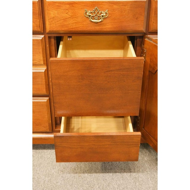 Late 20th Century Broyhill Cherry Triple Door Dresser For Sale In Kansas City - Image 6 of 13