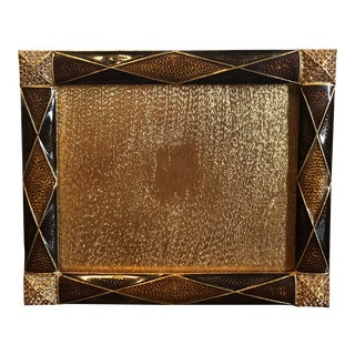 Jay Strongwater Signed Argyle Picture Frame With Swarovski Crystals For Sale