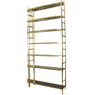 20th Century American Classical Billy Baldwin for Cole Porter Brass Etagere For Sale