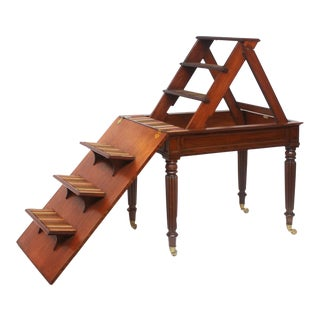 Period Regency Metamorphic Library Steps and Writing Table For Sale