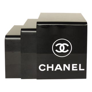 Vintage Chanel Acrylic Store Display Nesting Tables- Set of 3 For Sale