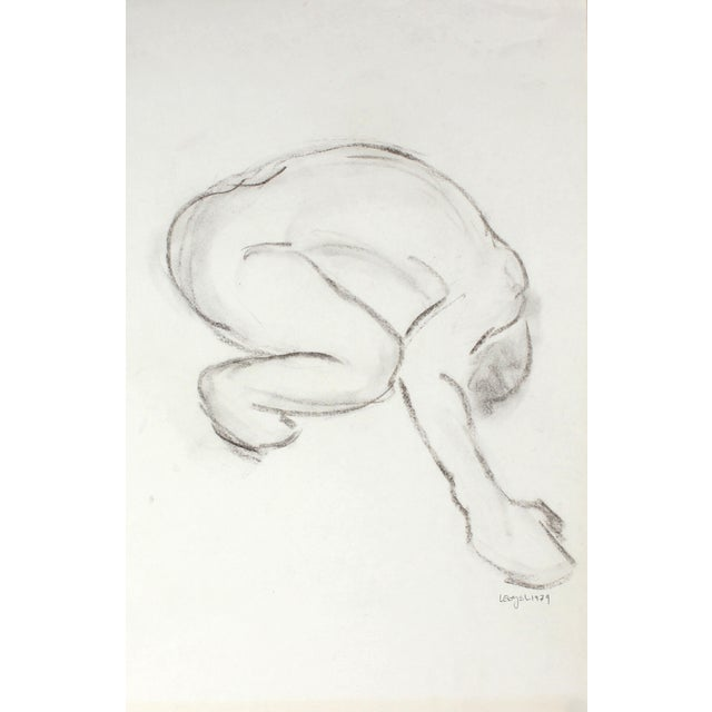 L. Lengyel Curved Nude Drawing, 1979 - Image 1 of 2