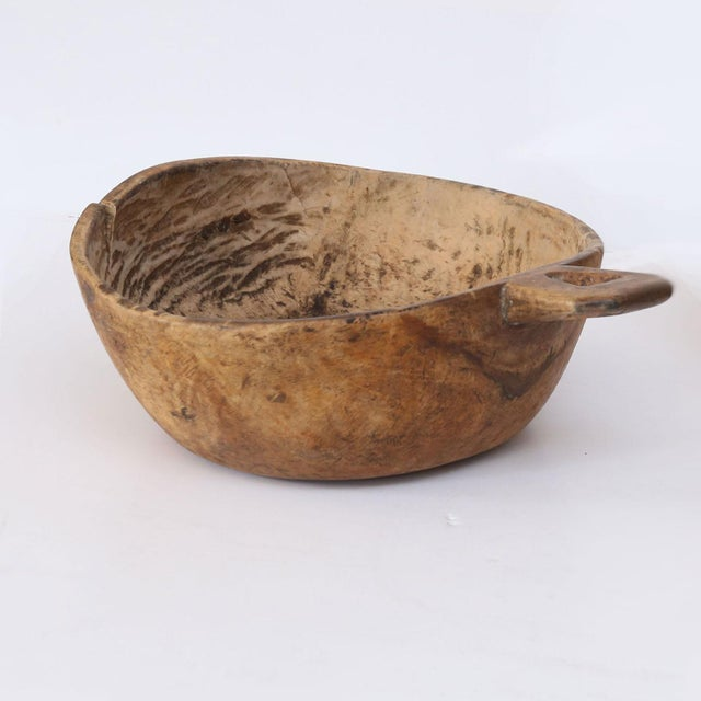 Wood Swedish Root Wood Bowl For Sale - Image 7 of 7