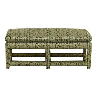Window Bench in Faux Python For Sale