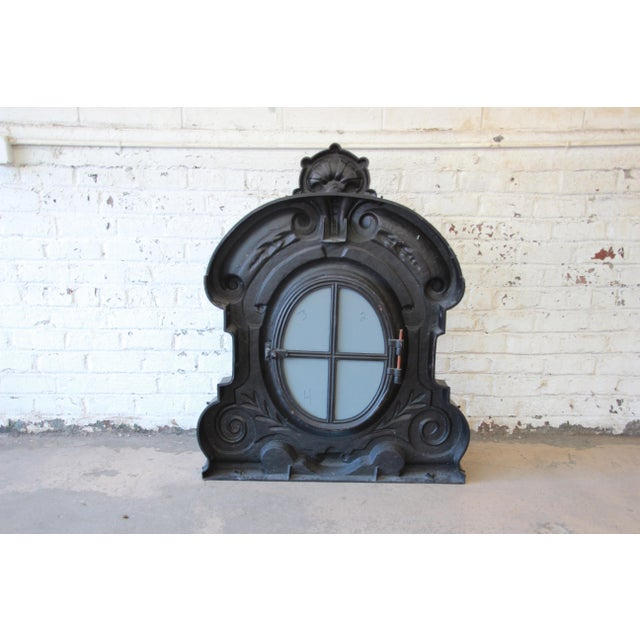 19th Century Antique French Cast Iron Dormer For Sale - Image 9 of 12