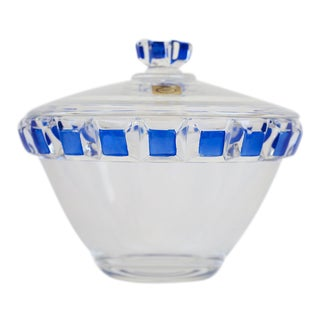 German Bleikristall Crystal Bowl With Lid For Sale