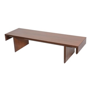 """American Modern Mahogany """"Taliesin Group"""" Low Table or Bench, Frank Lloyd Wright For Sale"""