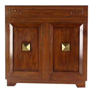Art Deco Mid-Century Modern Refrigerated Bar Liquor Cabinet For Sale