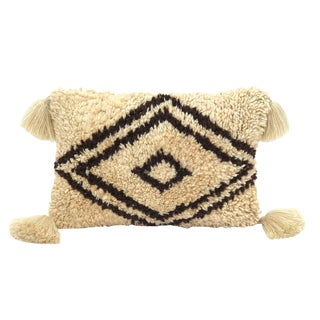 Large Moroccan Wool Pillow For Sale