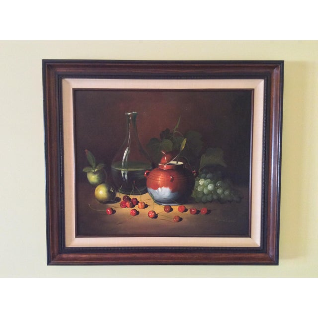 Mid-Century Frank Lean Still Life in Oil For Sale - Image 13 of 13