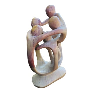 Mid Century Hand Carved Italian Figurative Abstract Impressionist Marble Sculpture For Sale
