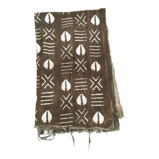 African Mali Mud Cloth W/ Shell Motif For Sale