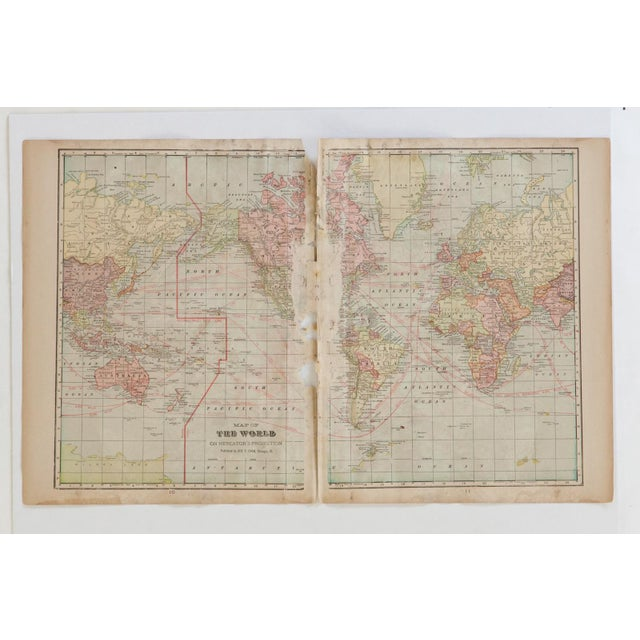 Cram's 1907 Map of World For Sale In New York - Image 6 of 7