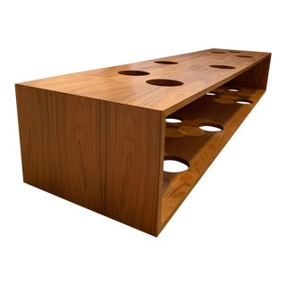 Mid-Century Modern Teak Wood Cocktail/Coffee Table With Cut Outs For Sale
