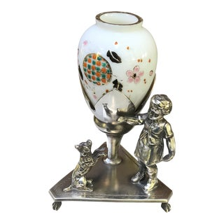 Victorian Silver Plate Figural Bud Vase For Sale