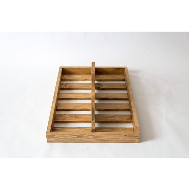 Traditional Vintage Wooden Berry Carrier For Sale - Image 3 of 7