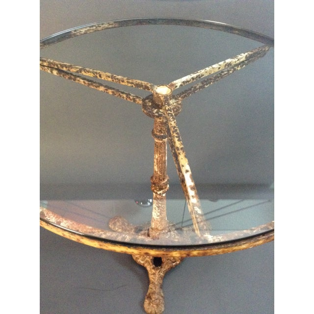 Antique Cast Iron Outdoor Dining Table - Image 6 of 7