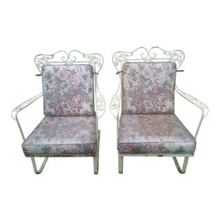 Woodard Mid-Century Orleans Spring Chairs - a Pair