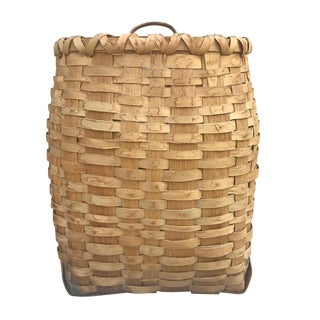 Early 20th Century Ash Splint Basket For Sale