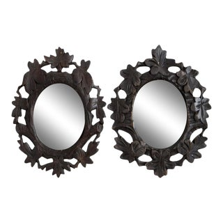 1920s Black Forest Mirrors - a Pair For Sale