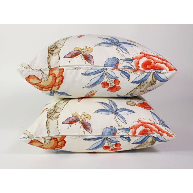"Custom Pillow Pair From Thibaut's ""Giselle"" Fabric For Sale In Los Angeles - Image 6 of 7"