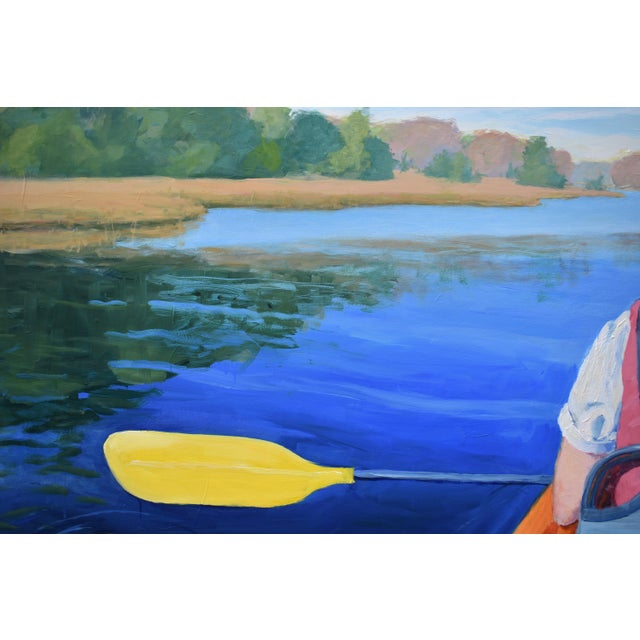 """Stephen Remick """"The Journey"""" Large (32"""" X 80"""") Contemporary Painting For Sale - Image 9 of 13"""