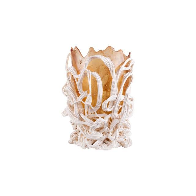 Gaetano Pesce Gaetano Pesce Orange & White Resin Vase For Sale - Image 4 of 9