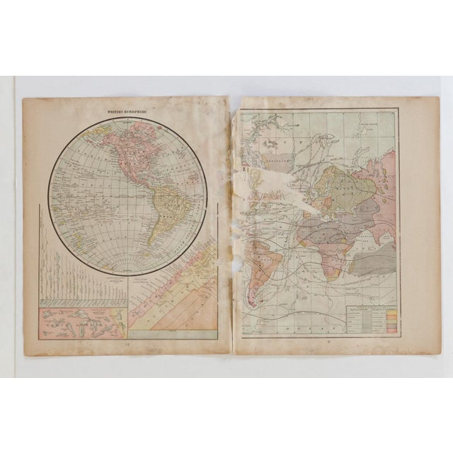Old New House Cram's 1907 Map of World For Sale - Image 4 of 7