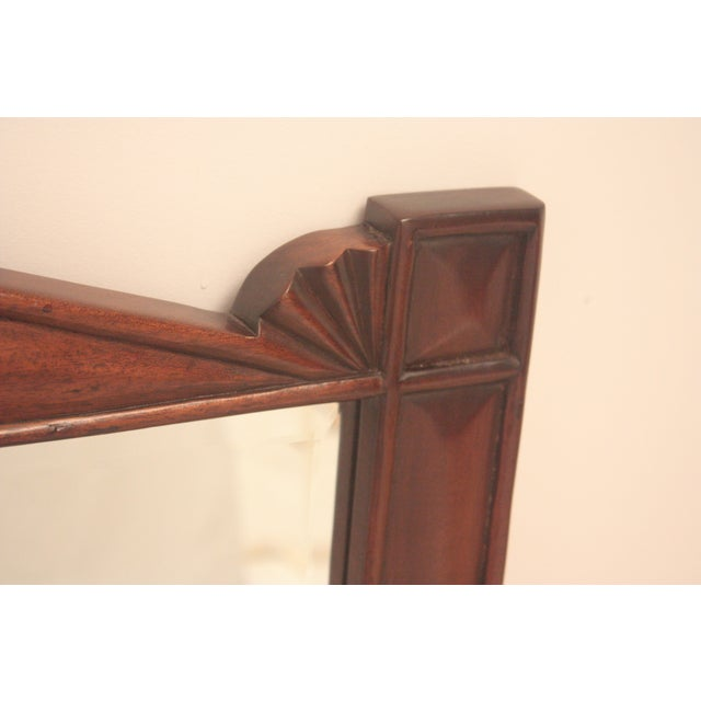 Pediment Detail Beveled Mirror For Sale In San Francisco - Image 6 of 11
