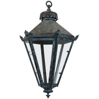 English Tapering Lantern For Sale